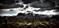 Superstition mountain with snow